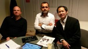 Amaury Smet, Didier Budin et Huy Nhu