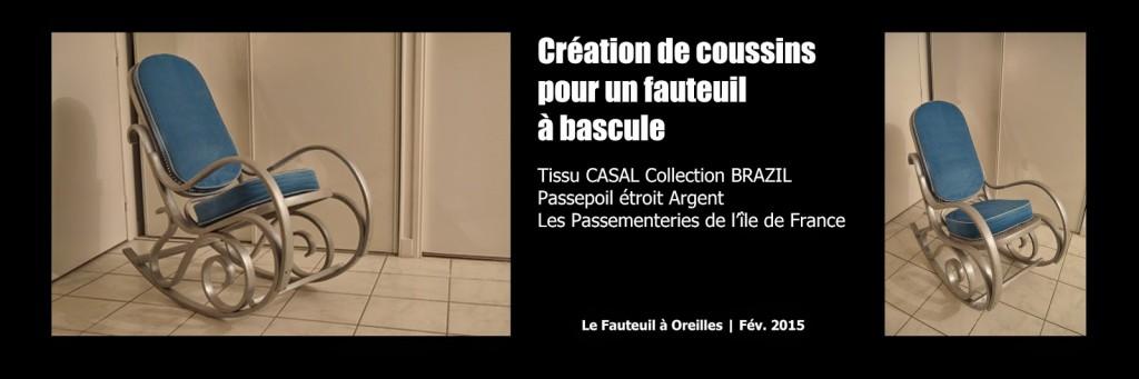 Le Fauteuil à Oreilles - Réalisation - Février 2015