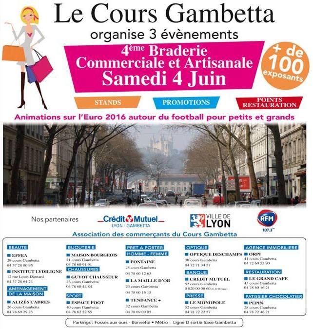 4e Braderie de Printemps du Cours Gambetta programme