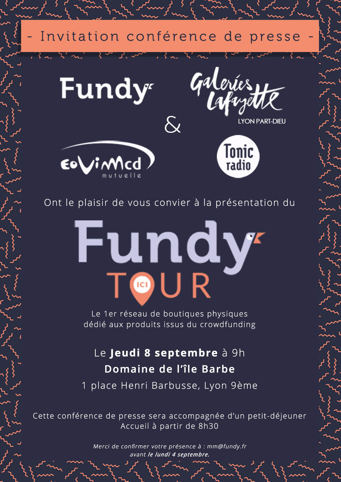 Invitation conférence de presse Fundy