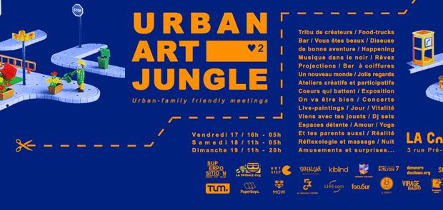 2e édition de l'Urban Art Jungle Festival les 17, 18 et 19 février