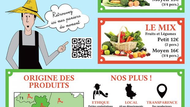La Rue des producteurs : lancement des paniers de producteurs et de la vente en ligne