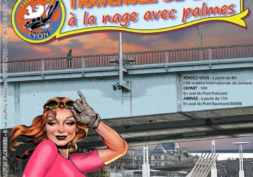 Munissez-vous de vos palmes et rendez-vous le 21/01 pour traverser Lyon à la nage