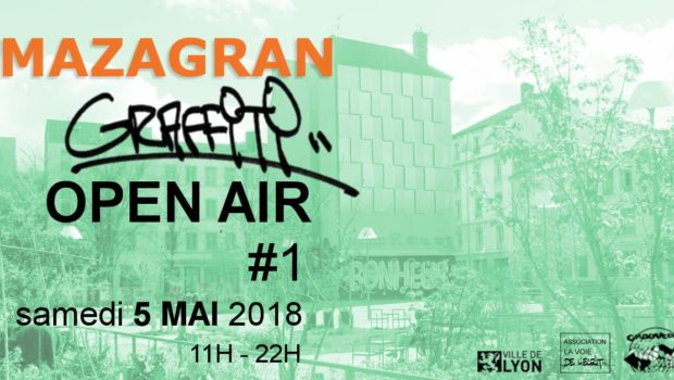 Mazagran graffiti open air : Graffiti, sérigraphie, fanzine avec Undex, Sphinx, Wen, Krea et Groovedge