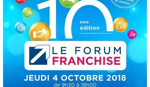 Rendez-vous le 4 octobre pour le Forum Franchise !