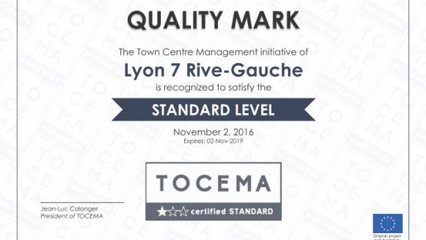 Lyon 7 Rive Gauche se voit à nouveau décerner le label européen Tocema pour son action sur le 7e arrondissement