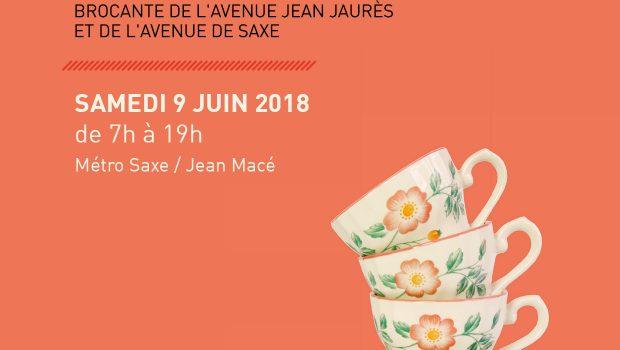 Plaisir de Chiner la brocante avenue Jean Jaurès & Saxe revient le 9/06