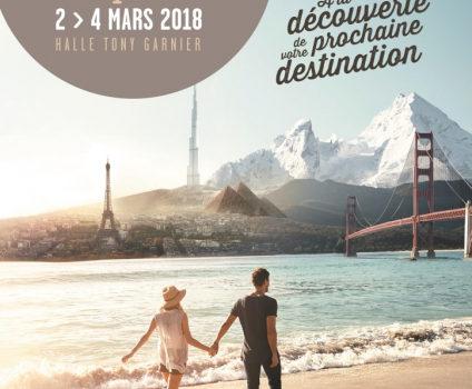 Du 2 au 4 mars 2018, trouvez le voyage de vos rêves à la Halle Tony Garnier !