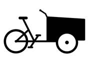 Coloring page cargo bike | Cargo bike, Bike, Coloring pages